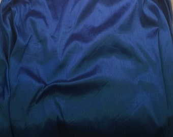 Royal Blue - Faux Silk Dupioni Fabric - 1 Yard