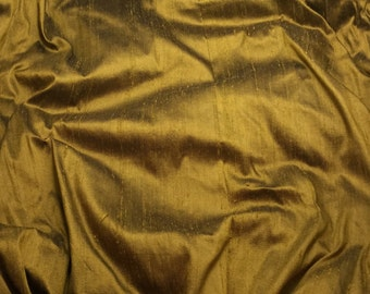 BRONZE BLACK Silk DUPIONI Fabric - fat 1/4