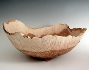 Large Elm Burl Wood Turned Bowl - Artistic Wood Bowl- Lathe Turned - Wood Turning - Men or Women - Eco Friendly - Kitchen Gourmet