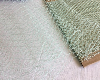 New Item -- 1 Yards of 9 inches wide Russian/French Veiling -- Mint Green