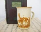 vintage deer mug, english pottery, ashdale fawn cup
