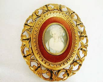 vintage cameo portrait oval frame cameo creations french style