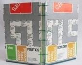 Careers Journal Recycled Game Board Book by PrairiePeasant