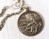 Eureka Medallion Necklace