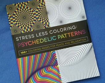 psychedelic coloring etsy