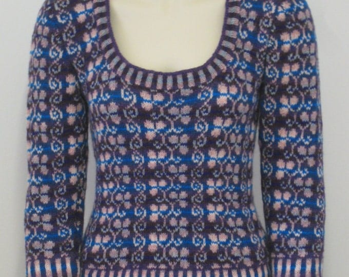 pdf pattern for the Vine and Clover Fair Isle Sweater by Elizabeth Lovick