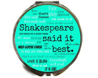 William Shakespeare quotes Compact Mirror Pocket Mirror Large