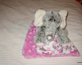 Security Blanket, baby blanket, luvi, lovie - elephant lovems