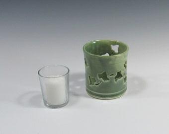 Candleholder - luminary - lantern - home decor - handmade pottery