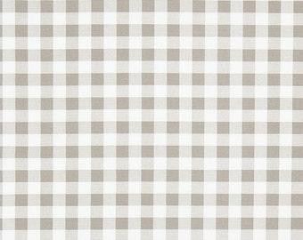 Buffalo Plaid Ecru - Premier Prints Plaid Ecru - Yardage