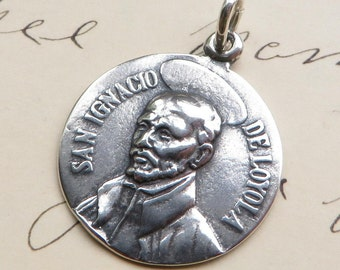 St Ignatius of Loyola Medal-Antique Reproduction-Patron of the Society of Jesus