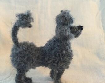 Felted Grey Standard Poodle