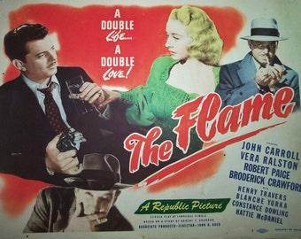 Vintage Lobby Card 40s Film Noir Movie THE FLAME 1947