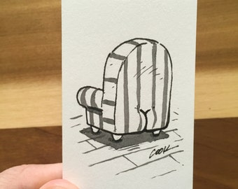 Chair with a BUTT mini illustration