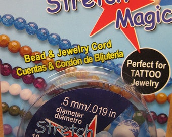Black Stretch Magic Cord Bead and Jewelry Cord  .5mm 32 ft