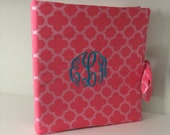 Personalized Monogrammed three ring binder cover by Watermelon Wishes