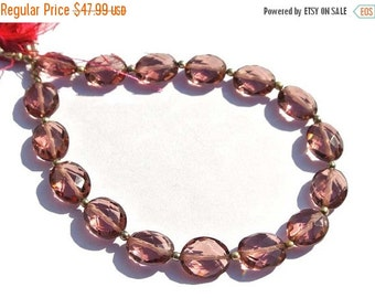 55% OFF SALE 8 Inches AAA Plum Quartz Faceted Oval Briolettes Size 10x8mm Approx Oval Beads High Quality Great Price