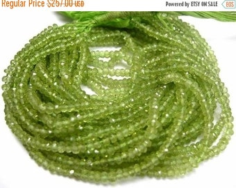 55% OFF SALE Buy Wholesale Lot - 10x14 -140 Inches Peridot Micro Faceted Rondelles Size 3.5 - 4mm Approx