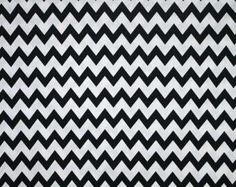 Black & White Chevron Fabric By the Yard, Quarter Yard, Fat Quarter Black and White Zigzag Stripe Fabric Cotton Quilting Fabric a2/35