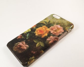 Roses on Canvas Phonce Case - iPhone Case - Phone Back Cover