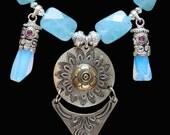 Zambian Aqua, Turkmen Amulet & Opals