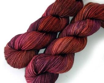 Tight Twist Handdyed Yarn MCN Fingering - Sangria, 400 yards