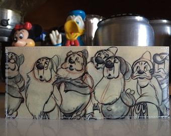 Seven Drawfs Disneyland Map Wallet