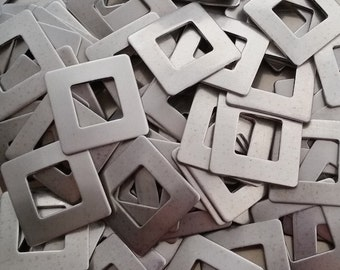 Nickel Square Washers - 18 Gauge - Qty 5, Nickel Silver Hand Stamping Blanks, Stamping Supplies, Bopper, Washer Blanks, Stamping Supplies