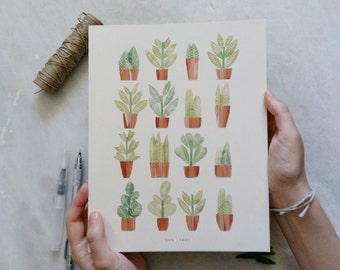 A4 Botanical print