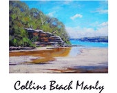 Sydney Harbour PAINTING  Original Beach Painting  Fine Art by Graham Gercken