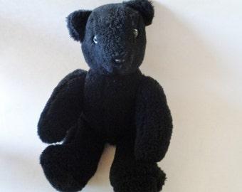 Vintage Black Handmade Teddy Bear Moveable Arms and Legs