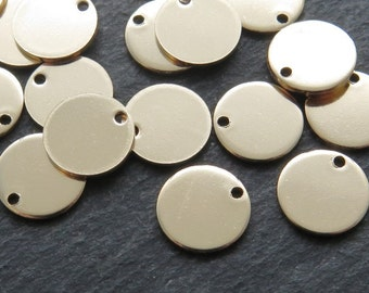 Gold Filled Round Tag Disc 9mm (CG8665)