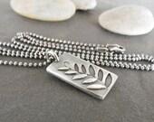 OOAK-Sterling Silver-Woodland Fern-Artisan-Pendant-Necklace