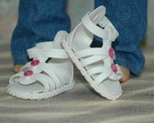 Sandals, doll shoes, made for 18 inch doll, doll clothes