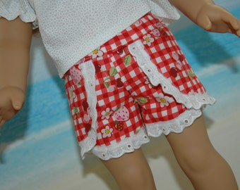 Shorts, Made to fit 18 inch doll, pants, doll clothes,