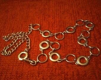 Silvertone Circles Metal Link Belt