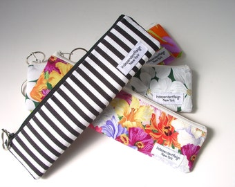 Small Zipper Pouches, Skinny Mini Zips, Floral Bags, Long Zipper Pouch, Make-Up Brush Case, Zippered Bag