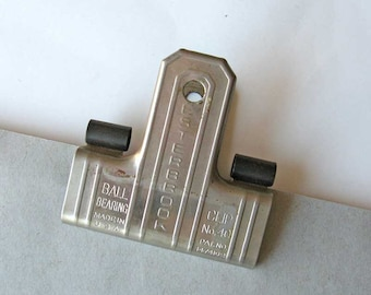 1940 Vintage Esterbrook Clip No 40 Large Metal Office Clip for Papers, Office, Desk, Advertising