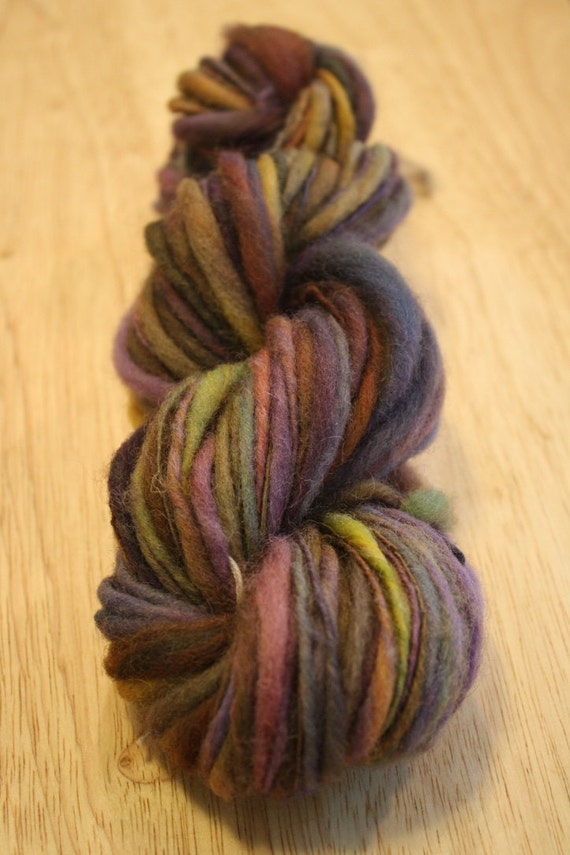 Basket weaving supplies asheville nc : Handspun per cent wool thick and thin singles yarn in