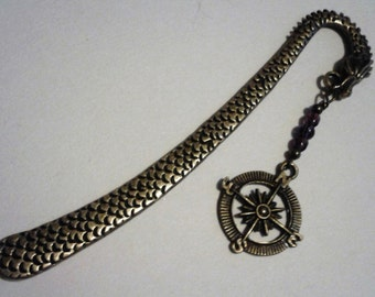 Steampunk Inspired Compass Dragon Bookmark