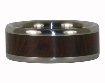 Camatillo Wood Titanium Ring