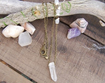 Rose Quartz and Moonstone Necklace