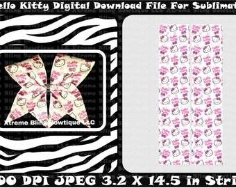 Hello Kitty Sublimation Cheer Bow Strips Download