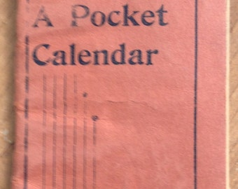 Vintage 1902 1903 Pocket Calendar Booklet by the Hygenic Medical Institute