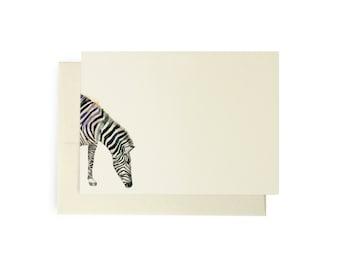 Zebra Note Card