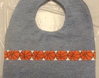 Jean Baby Bib, Basketball