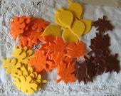 Fall leaves embellishments felt stickers 42 pieces craft supplies for Fall Thanksgiving kids crafts projects leaves stickers felties