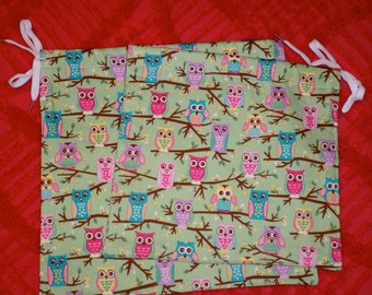 Pair of Owl Themed Drawstring Bags from The Farmer's Daughter