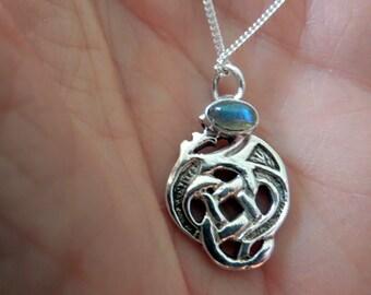 Labradorite and Sterling Celtic Knot Pendant
