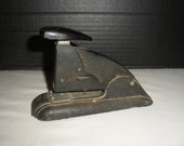 Vintage Small Industrial Black Stapler by Speed Products Office Desk Supply Retro Classic Industrial Stapler
